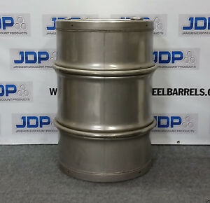 55 Gallon New 316 Stainless Steel Barrel With Sanitary Seamless Construction
