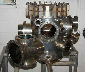Varian High Vacuum Chamber Stainless Steel Torr Conflat