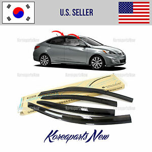 2s Tape Smoke Door Window Vent Visor Deflect For Hyundai Accent Sedan 2012 2017