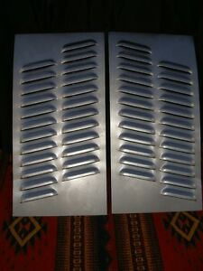 Pair Angled Louvered Panel Rat Rod Hood Louvers Gasser By Rodlouvers