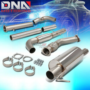 3 Muffler Tip Stainless Steel Exhaust Catback System For 00 04 Vw Golf Jetta Mk4