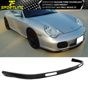 Fits 01 05 Porsche 996 911 Turbo Carrera 4 4s Pu Front Bumper Lip Bodykit