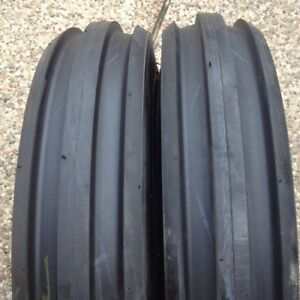 Two 6 00 16 600x16 600 16 6 00x16 Rib Imp Disc wagon Farm Tractor Tires W tubes