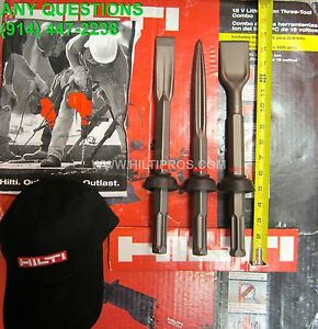 Hilti Chisel Set Narrow wide pointed Chisel 1 1 4 x14 2 x14 Fast Shipping