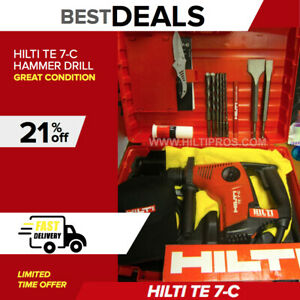 Hilti Te 7 c Hammer Drill Preowned Free Hat Bits Extras Fast Ship