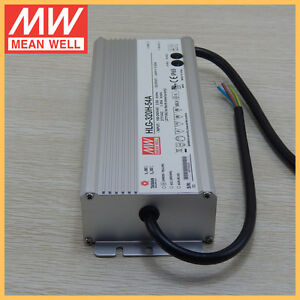 Mean Well Hlg 320h 54a 54v 5 95a Led Driver Waterproof Dimmable Outdoor