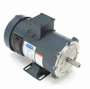 3 4 Hp 1800 Rpm 56c Frame 24 Volts Dc Tefc Leeson Electric Motor 108052