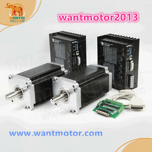 Free To Usa wantai 2axis Nema 42 Stepper Motor 3256oz 6a Driver Cnc Engravemill