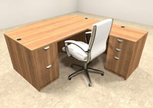 4pc L Shaped Modern Executive Office Desk ot sul l1