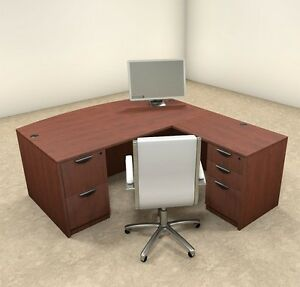4pc L Shaped Modern Executive Office Desk ot sul l2
