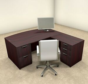 4pc L Shaped Modern Executive Office Desk ot sul l3