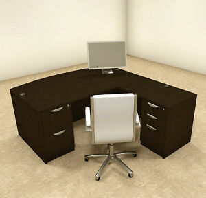 4pc L Shaped Modern Executive Office Desk ot sul l4
