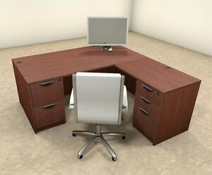 4pc L Shaped Modern Executive Office Desk ot sul l6