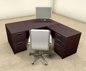 4pc L Shaped Modern Executive Office Desk ot sul l7
