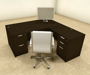 4pc L Shaped Modern Executive Office Desk ot sul l8