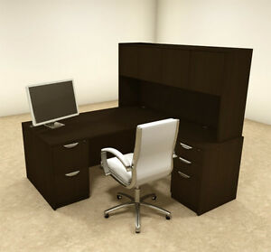 5pc L Shaped Modern Executive Office Desk ot sul l12