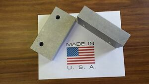 6 X 3 X 1 5 Vise Jaw Pair Aluminum For Kurt And Most Others usa