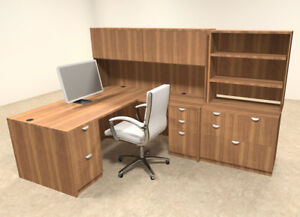 7pc L Shaped Modern Executive Office Desk ot sul l13
