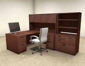 7pc L Shaped Modern Executive Office Desk ot sul l14