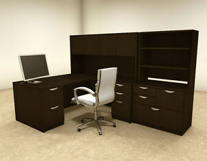 7pc L Shaped Modern Executive Office Desk ot sul l16