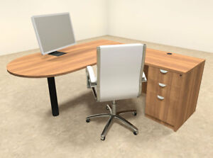 3pc L Shaped Modern Executive Office Desk ot sul l17