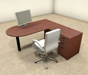 3pc L Shaped Modern Executive Office Desk ot sul l18