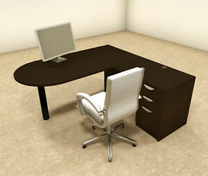3pc L Shaped Modern Executive Office Desk ot sul l20