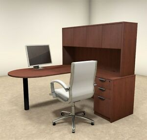 4pc L Shaped Modern Executive Office Desk ot sul l22