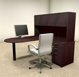 4pc L Shaped Modern Executive Office Desk ot sul l23