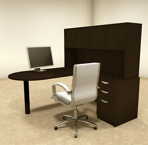 4pc L Shaped Modern Executive Office Desk ot sul l24