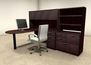 6pc L Shaped Modern Executive Office Desk ot sul l27