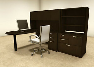6pc L Shaped Modern Executive Office Desk ot sul l28
