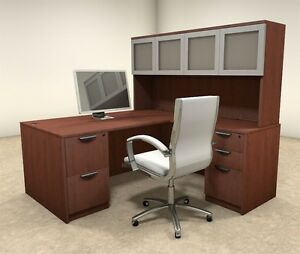 5pc L Shaped Modern Executive Office Desk ot sul l30