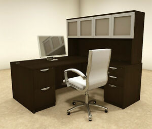 5pc L Shaped Modern Executive Office Desk ot sul l32