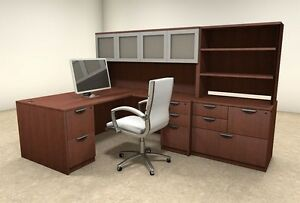 7pc L Shaped Modern Executive Office Desk ot sul l34