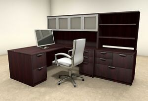 7pc L Shaped Modern Executive Office Desk ot sul l35