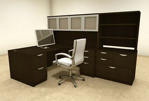 7pc L Shaped Modern Executive Office Desk ot sul l36