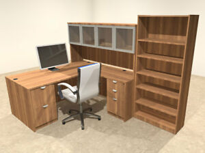 5pc L Shaped Modern Executive Office Desk ot sul l37