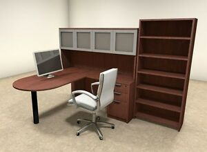 5pc L Shaped Modern Executive Office Desk ot sul l38