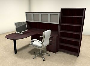 5pc L Shaped Modern Executive Office Desk ot sul l39