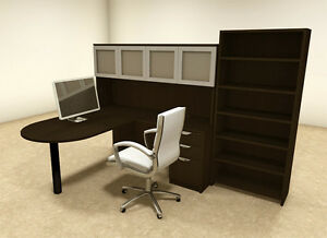 5pc L Shaped Modern Executive Office Desk ot sul l40