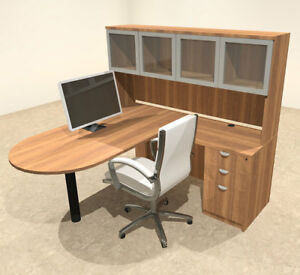 4pc L Shaped Modern Executive Office Desk ot sul l41