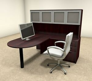 4pc L Shaped Modern Executive Office Desk ot sul l43
