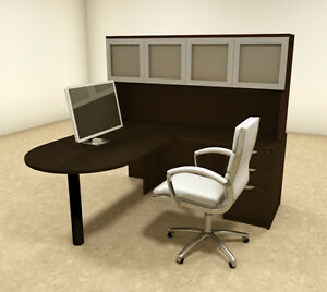 4pc L Shaped Modern Executive Office Desk ot sul l44