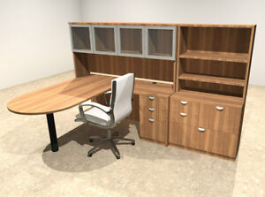 6pc L Shaped Modern Executive Office Desk ot sul l45