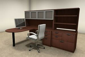 6pc L Shaped Modern Executive Office Desk ot sul l46