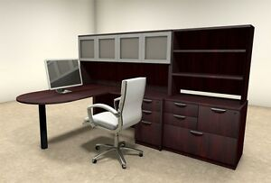 6pc L Shaped Modern Executive Office Desk ot sul l47