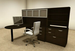 6pc L Shaped Modern Executive Office Desk ot sul l48