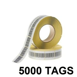 5000 Pcs Eas Checkpoint Barcode Soft Label Tag 8 2 3 X 4 Cm 1 18 X 1 57 Inch