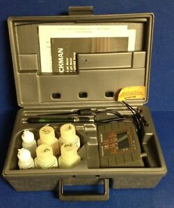 Beckman Ph 10 Meter Kit Part 123132 With Comb Electrode Probe case Manual